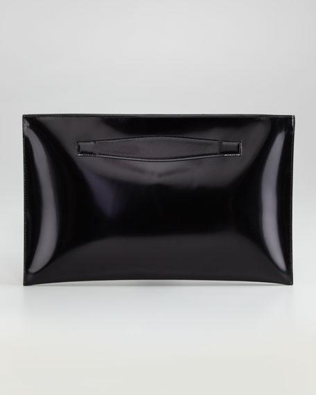 Diamond Spazzolato Flat Clutch Bag