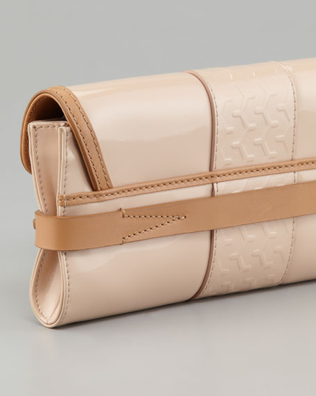 Clapton Patent Clutch Bag, Warm Beige