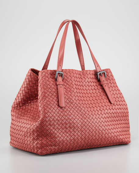 Veneta A-Shape Large Tote Bag, Coral