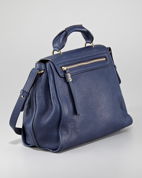 Elsie Medium Shoulder Bag, Capri Night