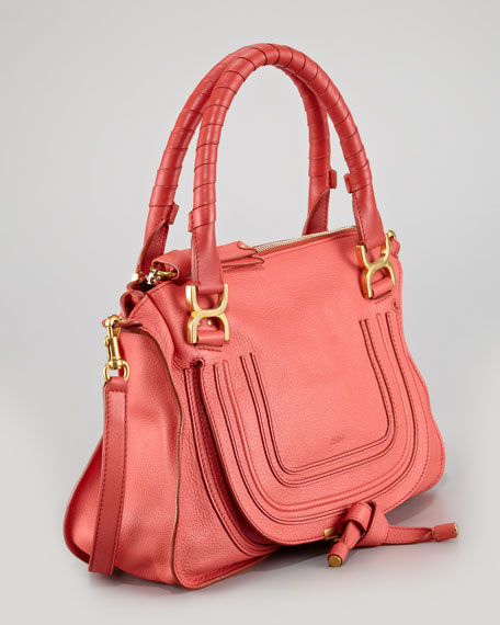 Marcie Medium Satchel, Paradise Pink
