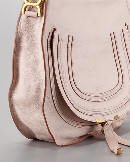 Marcie Medium Hobo Bag, Nude Pink
