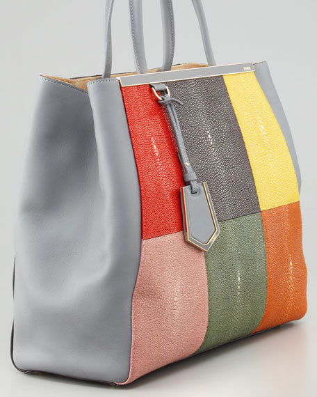2Jours Stingray Patchwork Tote Bag