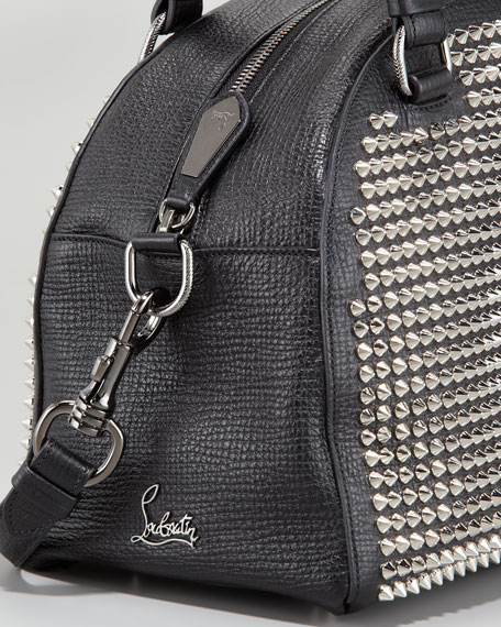 7a46172d49a Panettone Small Studded Satchel Bag Black/Silver