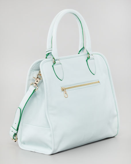 Tory Burch Priscilla  Pocket Tote Bag, Emerald
