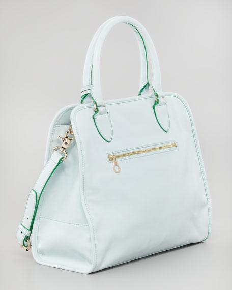 Priscilla  Pocket Tote Bag, Emerald