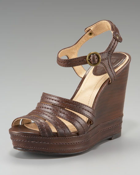 Corrina Stitch Strappy Wedge