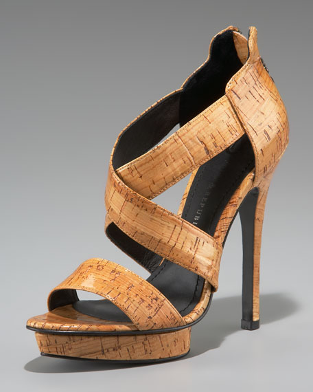 Lauren Coated-Cork Sandal