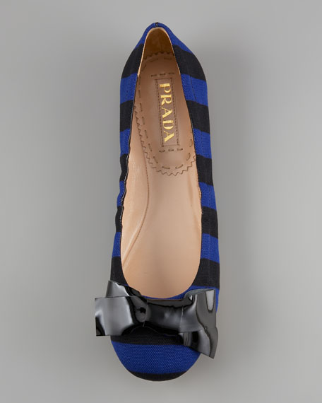 Striped Ballerina Flat