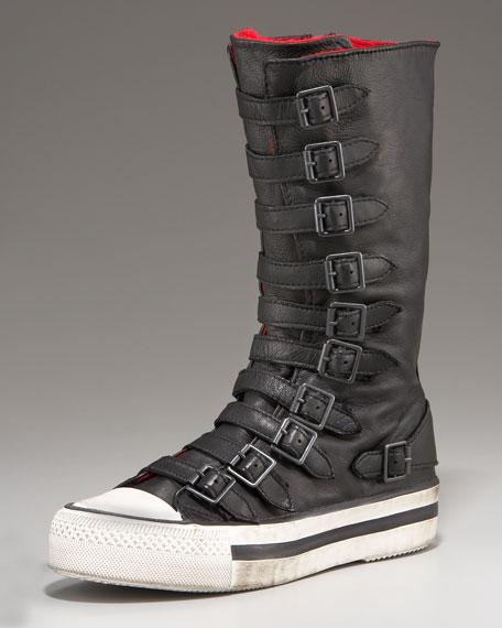Buckled Flat Sneaker