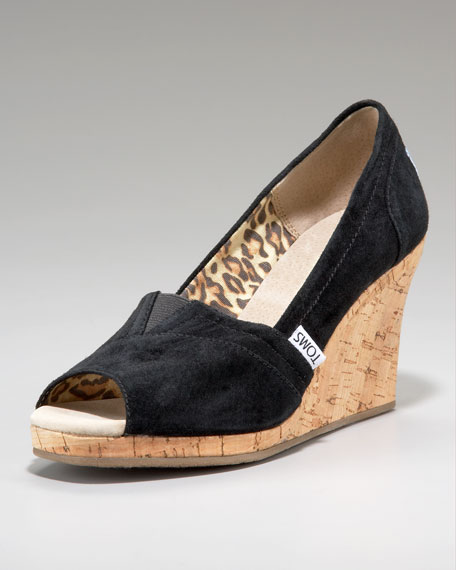 Fairmont Suede Cork Wedge