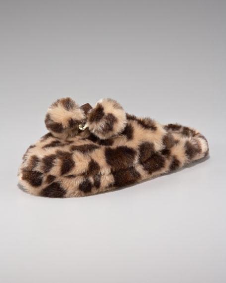 Sleepy Faux-Fur Slippers