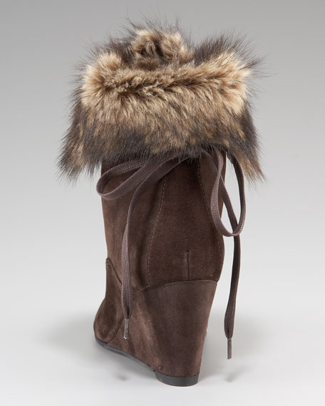Fur-Trim Ankle Boot
