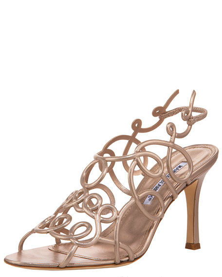 Swirly Halter Sandal