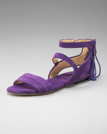 Back-Tassel Flat Sandal