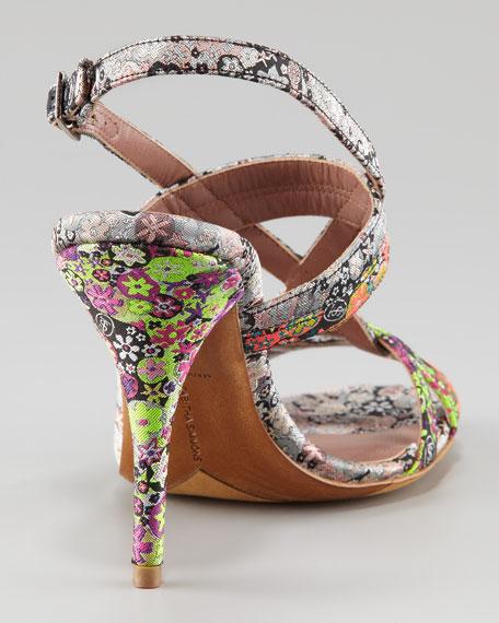 Flossie Printed Silk Sandal