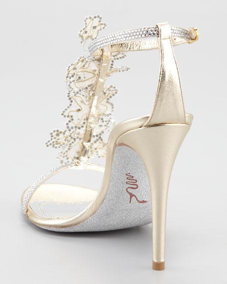 Lace T-Strap Sandal