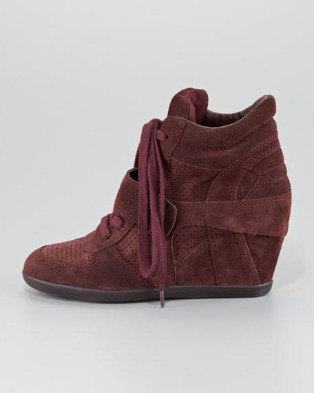 Bowie Suede Wedge Sneaker