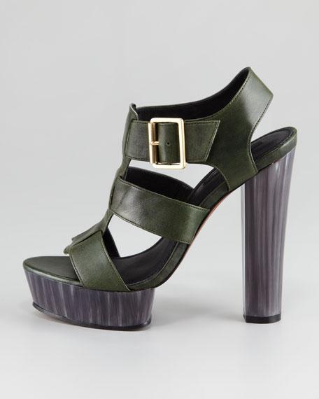 Lila Leather Platform Sandal