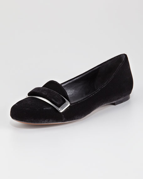 Lily Velvet Smoking Slipper