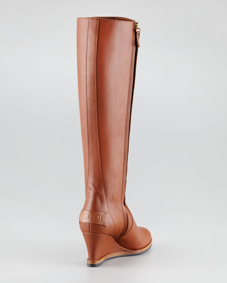 Cathy Leather Wedge Boot