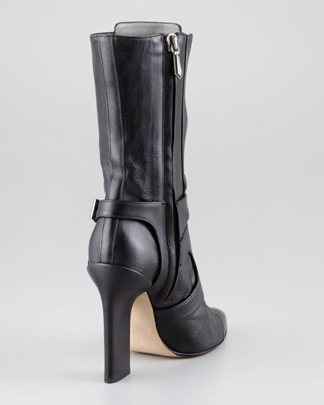 Mid-Calf Leather Boot