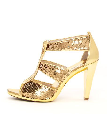 Berkley Sequined T-Strap Sandal