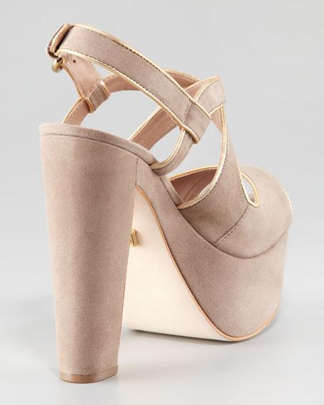 Gitta Suede Platform Sandal