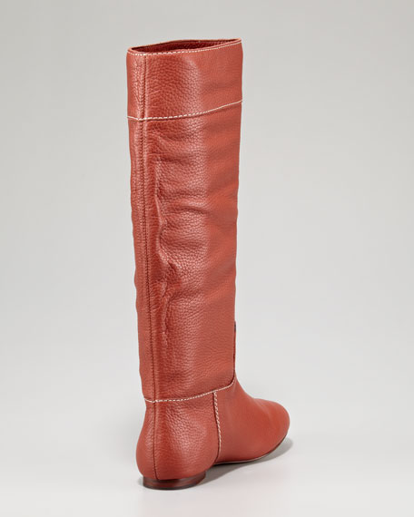 Orville Flat Leather Boot