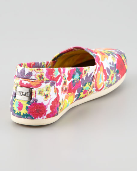 Floral-Print Canvas Slip-On