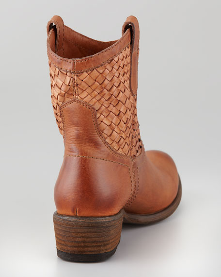 Carson Short Woven Leather Boot