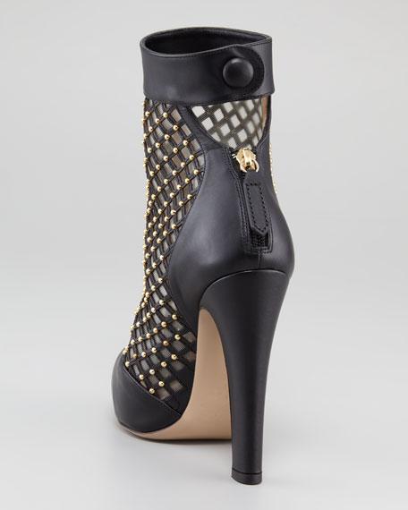 Studded Lattice Boot