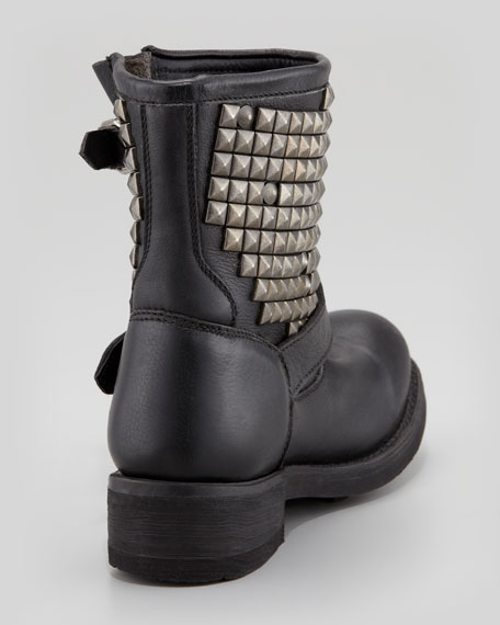 Titan Studded Leather Short Boot