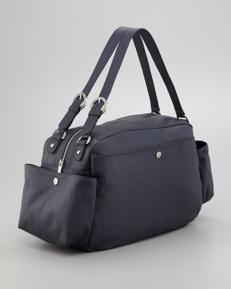 Faux-Leather Diaper Bag