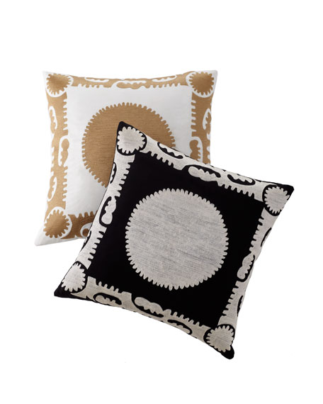 "Metallic ""Suzani"" Pillow"