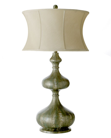 """Shapely Seafoam"" Lamp"