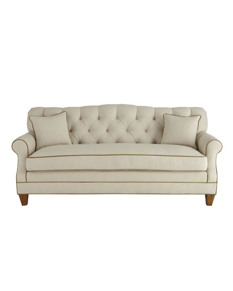 """Ricci"" Tufted-Back Sofa"