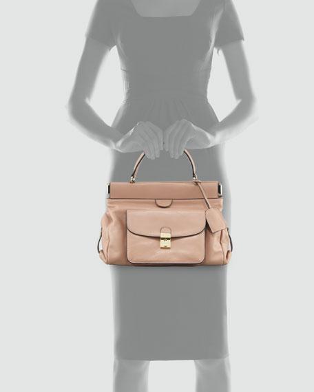 Priscilla Small Framed Satchel Bag, Tumbleweed