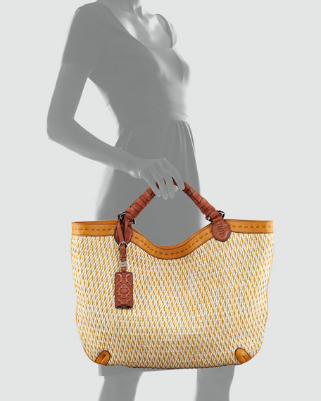 Ashley Woven Tote Bag