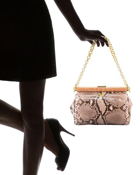 Prada Python Frame-Chain Shoulder Bag