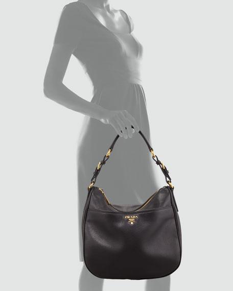 Vitello Daino Front-Pocket Hobo Bag