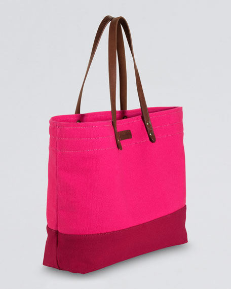 Colorblock Canvas Tote