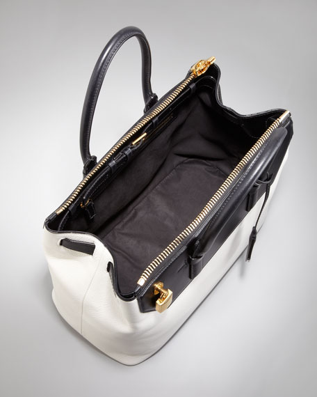 Tom Ford Two-Tone Medium Petra Bag