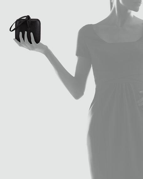 Square Evening Wristlet, Black