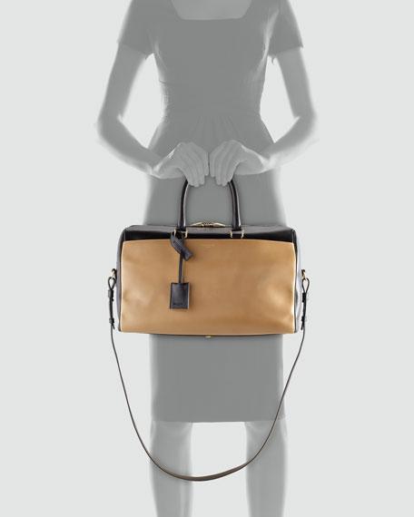 Classic Two-Tone Duffel Bag, Black/Gold