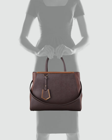 2Jours Vitello Elite Bag, Dark Brown