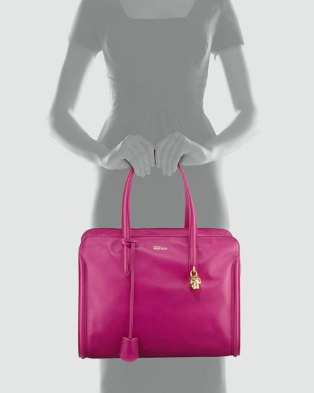New Padlock Medium Satchel Bag, Pink