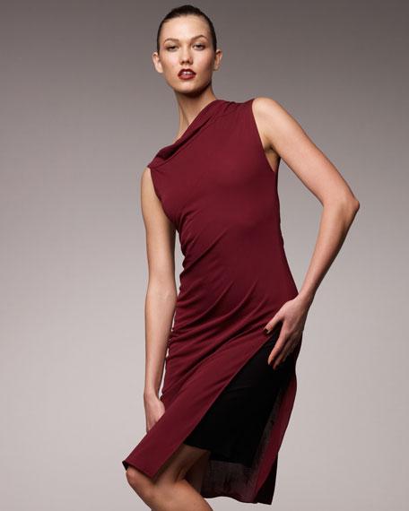 Asymmetric Jersey Dress