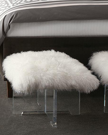 Sheepskin Bench