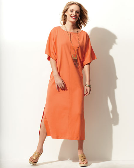 Classic Dolman-Sleeve Midi Dress, Women's